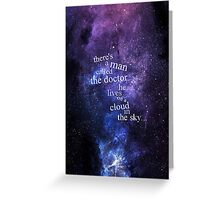 He Lives On A Cloud In The Sky Greeting Card