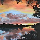 Zambezi River Sunset by Mike Paget