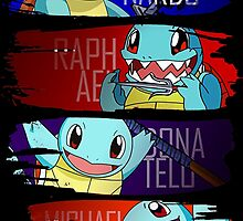 Happy Squirtle Ninjas by coffeewatson