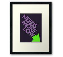 Needs More Low (7) Framed Print