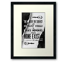 Infinite Starter Poster Framed Print