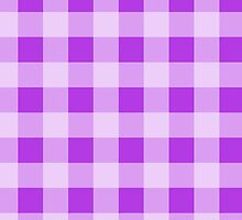 Checkered Gingham Pattern (Check Pattern) - Purple by sitnica