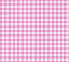Checkered Gingham Pattern - Pink White  by sitnica