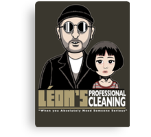LEON's Professional Cleaning Canvas Print