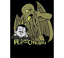 H.P. and Cthulhu Photographic Print