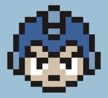 Mega Man Head Pixel Art by GamrParadise