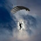 Skydiver and moon by Mats Silvan