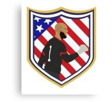 Tim Howard Crest Canvas Print
