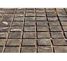 cracked paving wooden walkway Photographic Print