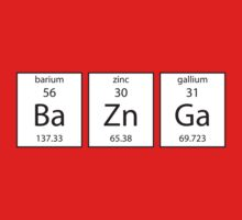 BA ZN GA Chemistry Periodic Table Of Elements T Shirt by wordsonashirt