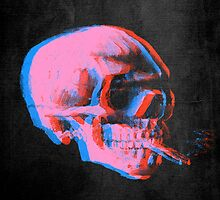 Van Gogh Skull with burning cigarette remixed 2 by filippobassano