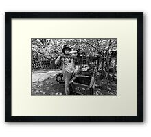 Cambodia:  The Local Fish Monger Framed Print