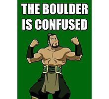 THE BOULDER IS CONFUSED Photographic Print
