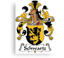 Schwartz Coat of Arms (German) Canvas Print