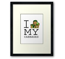 I Love My Cabbages Framed Print