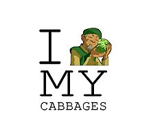 I Love My Cabbages Photographic Print