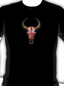 British Flag Bull Skull T-Shirt