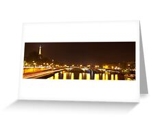 Eiffel Tower overview - panorama Greeting Card