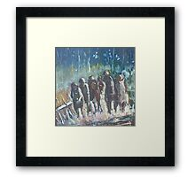 The Hoops Charge Home - Country Racing Vic. Australia Framed Print