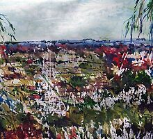 Daylesford Township from Wombat Hill Vic Australia by Margaret Morgan (Watkins)
