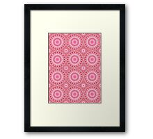 Red and Pink Kaleidoscope Flowers Pattern Design Framed Print