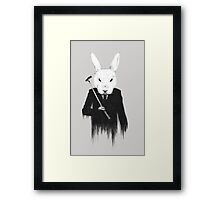 The White Rabbit Framed Print