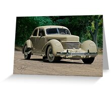 1937 Cord Beverly Greeting Card