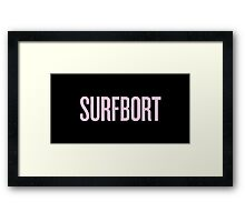 SURFBORT with yonce Framed Print