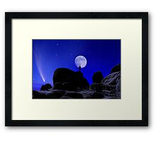 Moonrise Over White Tank Campground. Framed Print