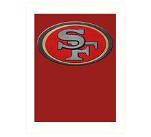 Steel San Francisco 49ers Logo Art Print