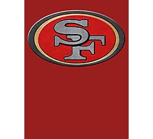 Steel San Francisco 49ers Logo Photographic Print