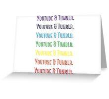 Youtube & Tumblr Greeting Card