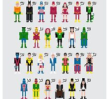 Superhero Alphabet 2 by Sergey Vozika