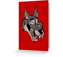 Big wolf Greeting Card