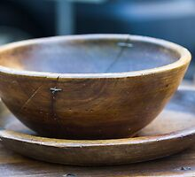 old wooden bowl by spetenfia