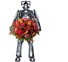 cyberman with flowers  Photographic Print