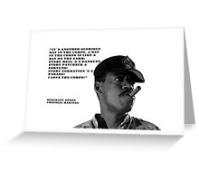 Aliens (Sgt. Apone´s speech) Greeting Card