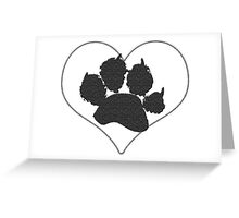 Paw Print In Heart 1 Greeting Card