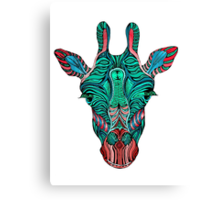 Psychedelic Giraffe - red variant Canvas Print