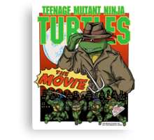 Ninja Turtles Retro First Movie 1990 Raphael Canvas Print
