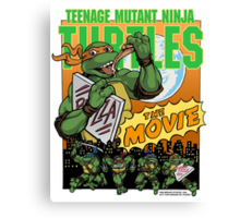 Ninja Turtles Retro First Movie 1990 Mikey Canvas Print