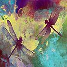 Dragonflies Dragonflies Duvet Covers, Throw Pillows, Tote Bag by Vitta