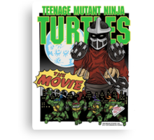 Ninja Turtles Retro First Movie 1990 Shredder Canvas Print