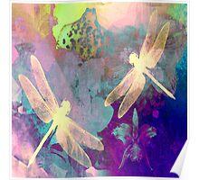 Dragonflies Dragonflies A Duvet Covers, Throw Pillows, Tote bag Poster