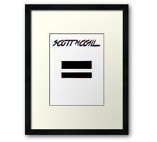 Scott McCall Framed Print
