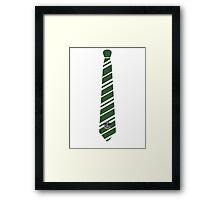 Slytherin Tie Framed Print