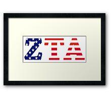 zeta tau alpha american flag Framed Print