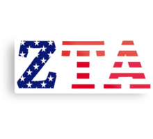 zeta tau alpha american flag Metal Print