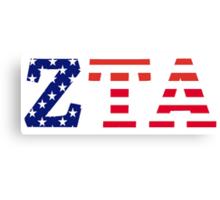 zeta tau alpha american flag Canvas Print
