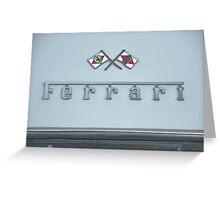 1967 Ferrari GTB4 Emblem/Logo Greeting Card